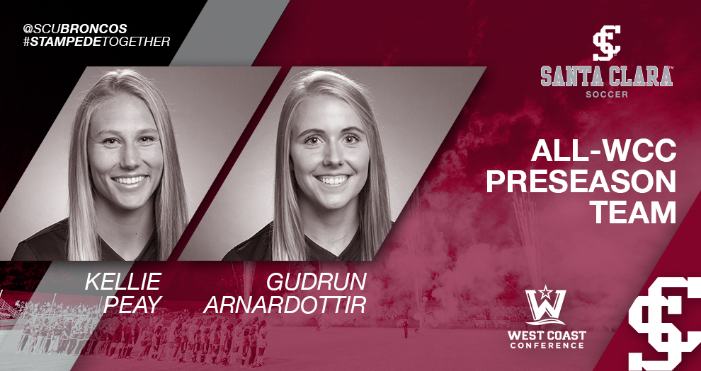 No. 24 Women's Soccer Picked to Win WCC; Peay, Arnardottir Named Preseason All-WCC