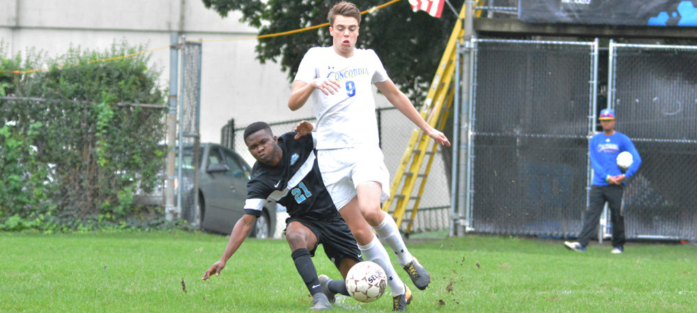 Buck Enters Men's Soccer Record Book In 4-3 Double-Overtime Setback At Bloomfield