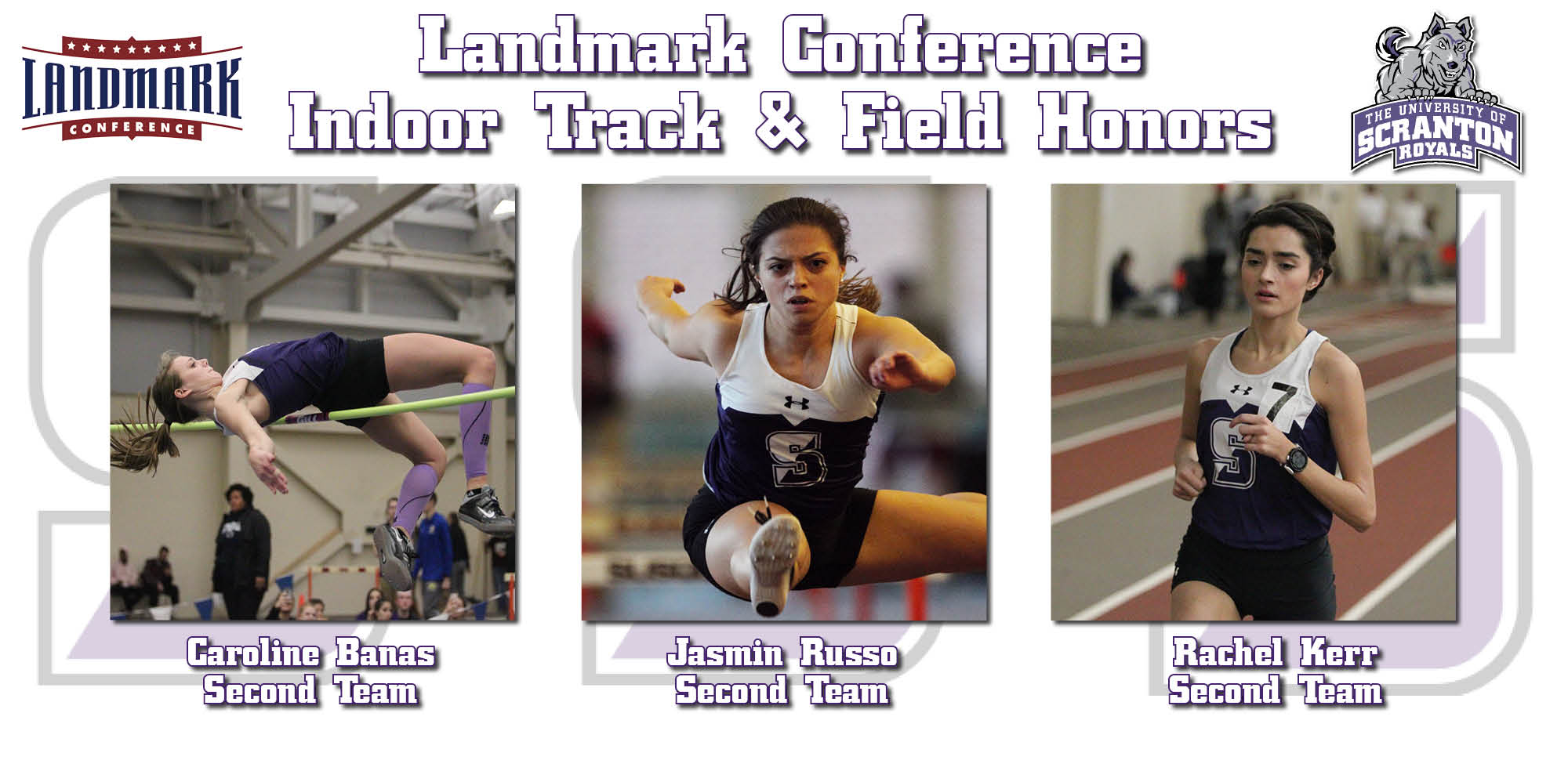 Banas, Russo, and Kerr Collect All-Landmark Conference Honors