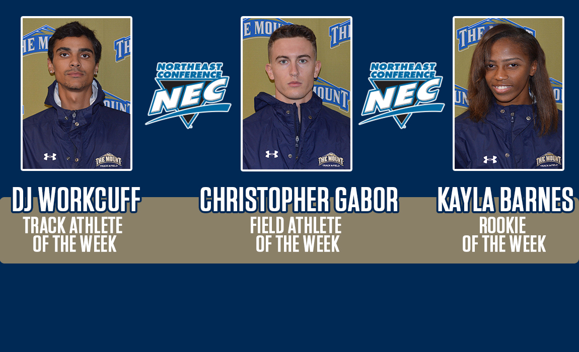 Mount St. Mary's Track Trio Earns Northeast Conference Weekly Honors