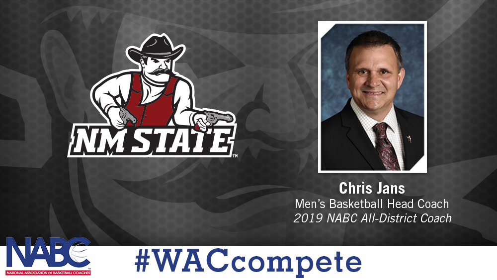 NM State's Chris Jans Selected as NABC District 6 Coach of the Year
