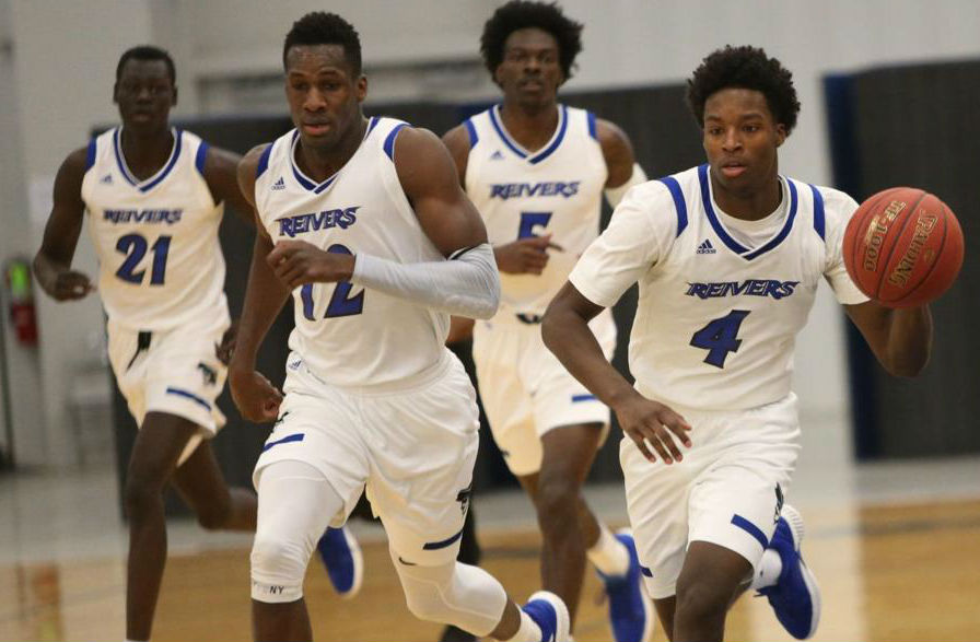 From Left to Right: Esahia Nyiwe, Amadou Sylla, Travon Broadway, and Caleb Huffman all played significant roles in the decisive 77-54 victory over KCK Tuesday (11/27/18) evening at Reiver Arena.