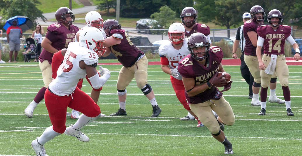 Mounties open football season with exhibition win over Acadia