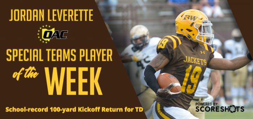 Leverette Earns Second OAC Football Special Teams Player of the Week Honor