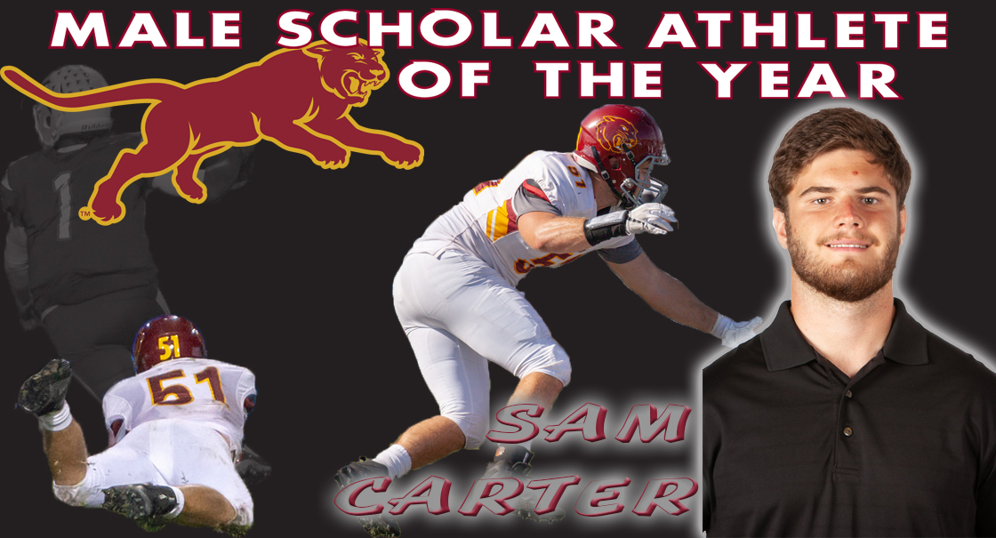 Sam Carter is the 2018-19 SCC Male Scholar Co-Athlete of the Year