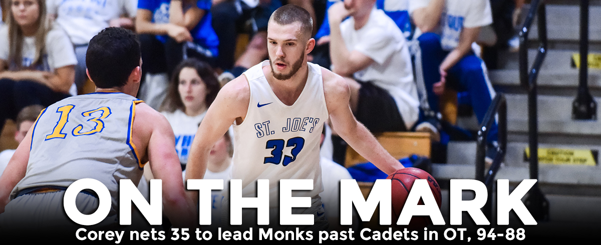 Corey Nets 35, Monks Top Cadets in OT, 94-88