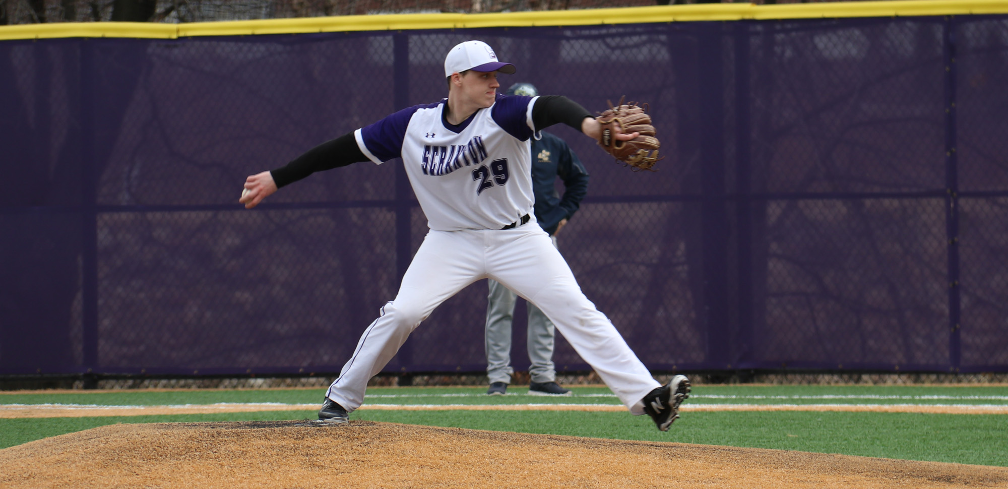 Freshman Josh Lydon nailed down his second save of the season to secure Scranton's win over Catholic on Sunday after the Royals rallied with three runs in the top of the ninth to win 7-6.