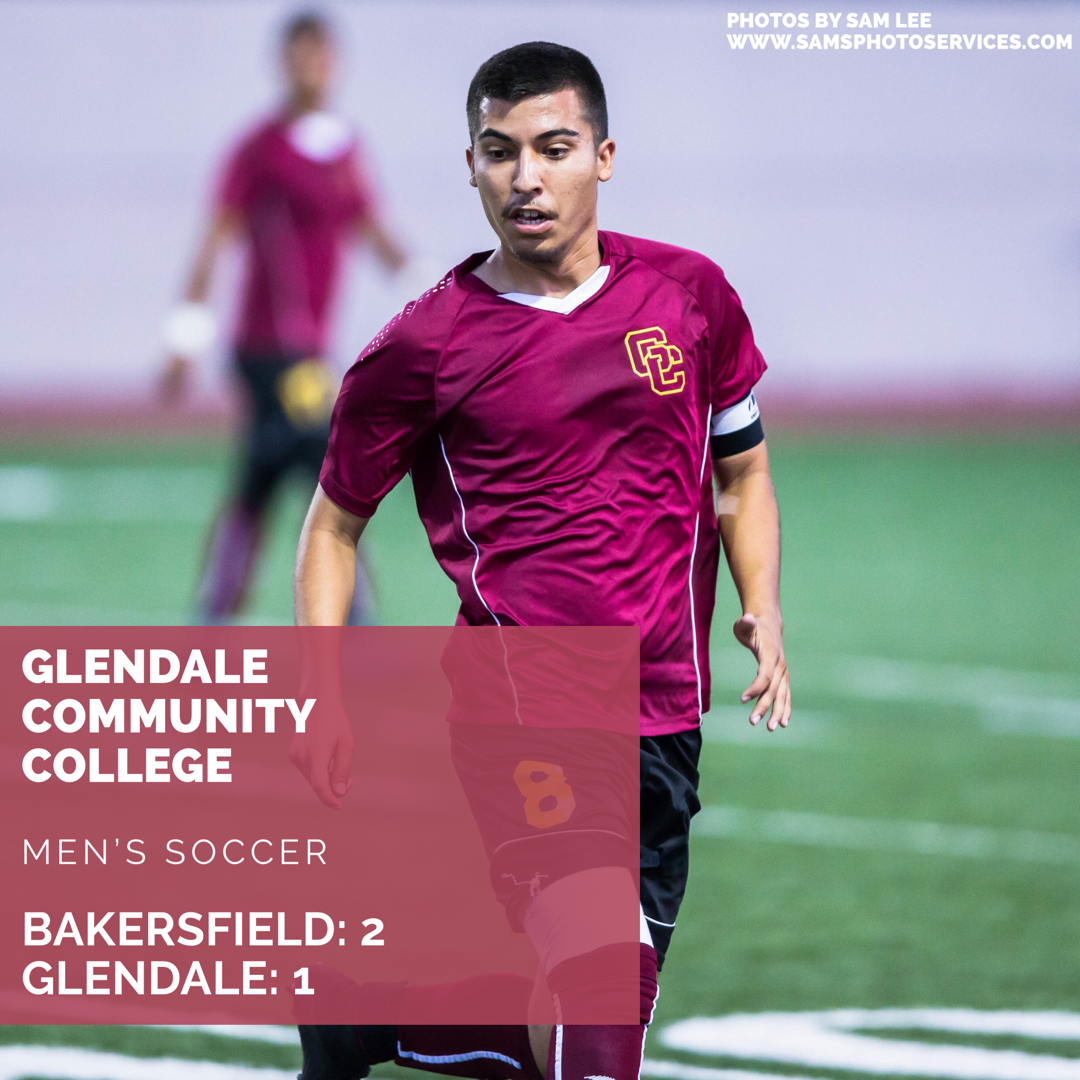 GCC loses to Bakersfield 2-1 in hard fought game