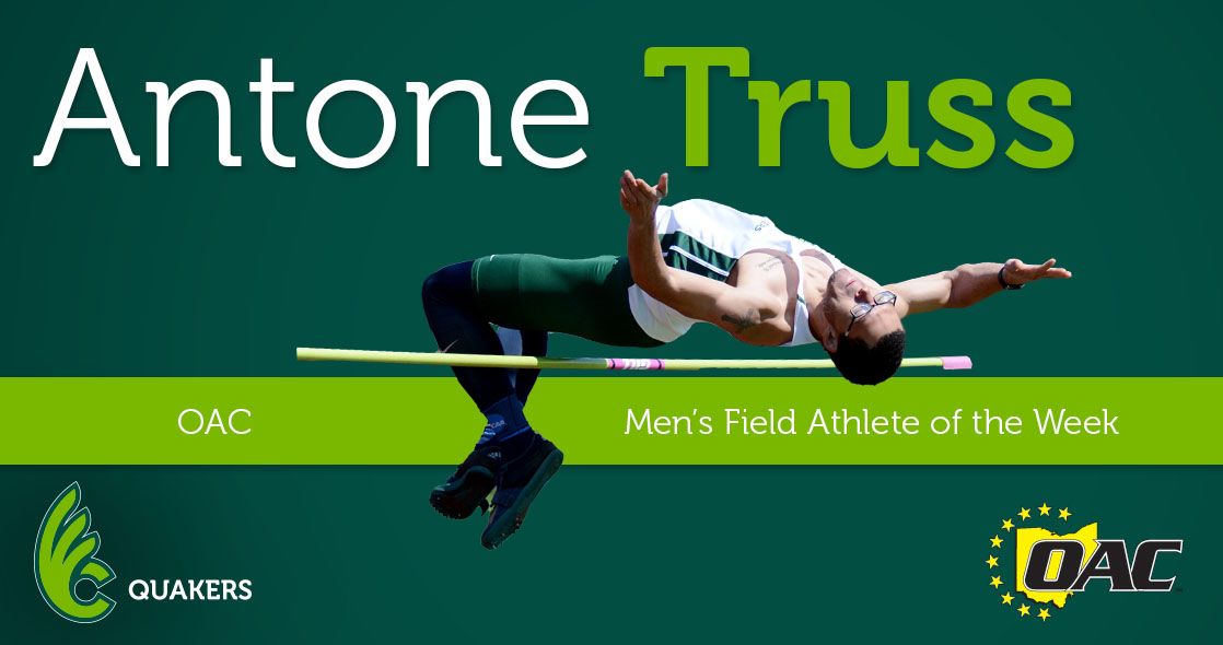 Truss Named OAC Men's Field Athlete of the Week