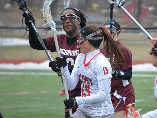 Women's lacrosse team beats Benedictine, 8-7, for first win of season