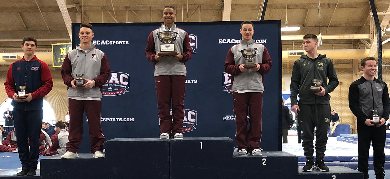 Men's Gymnastics Takes Fourth at ECAC Championships; Lewis Claims All-Around Title