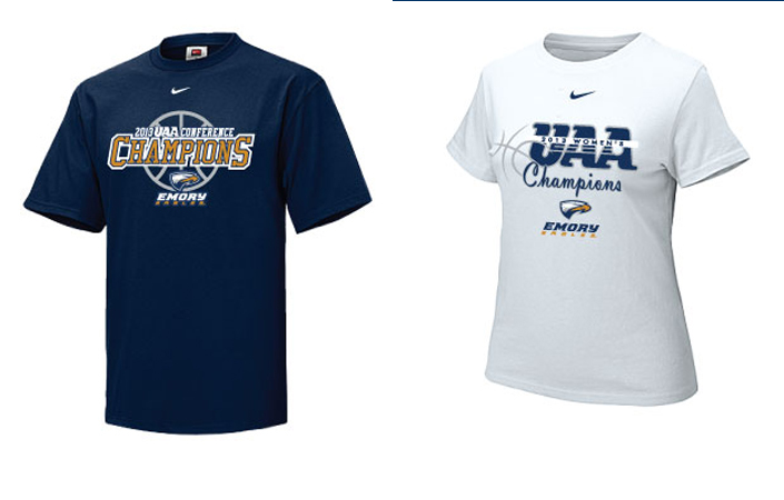 Men's & Women's UAA Basketball Championship Gear Available