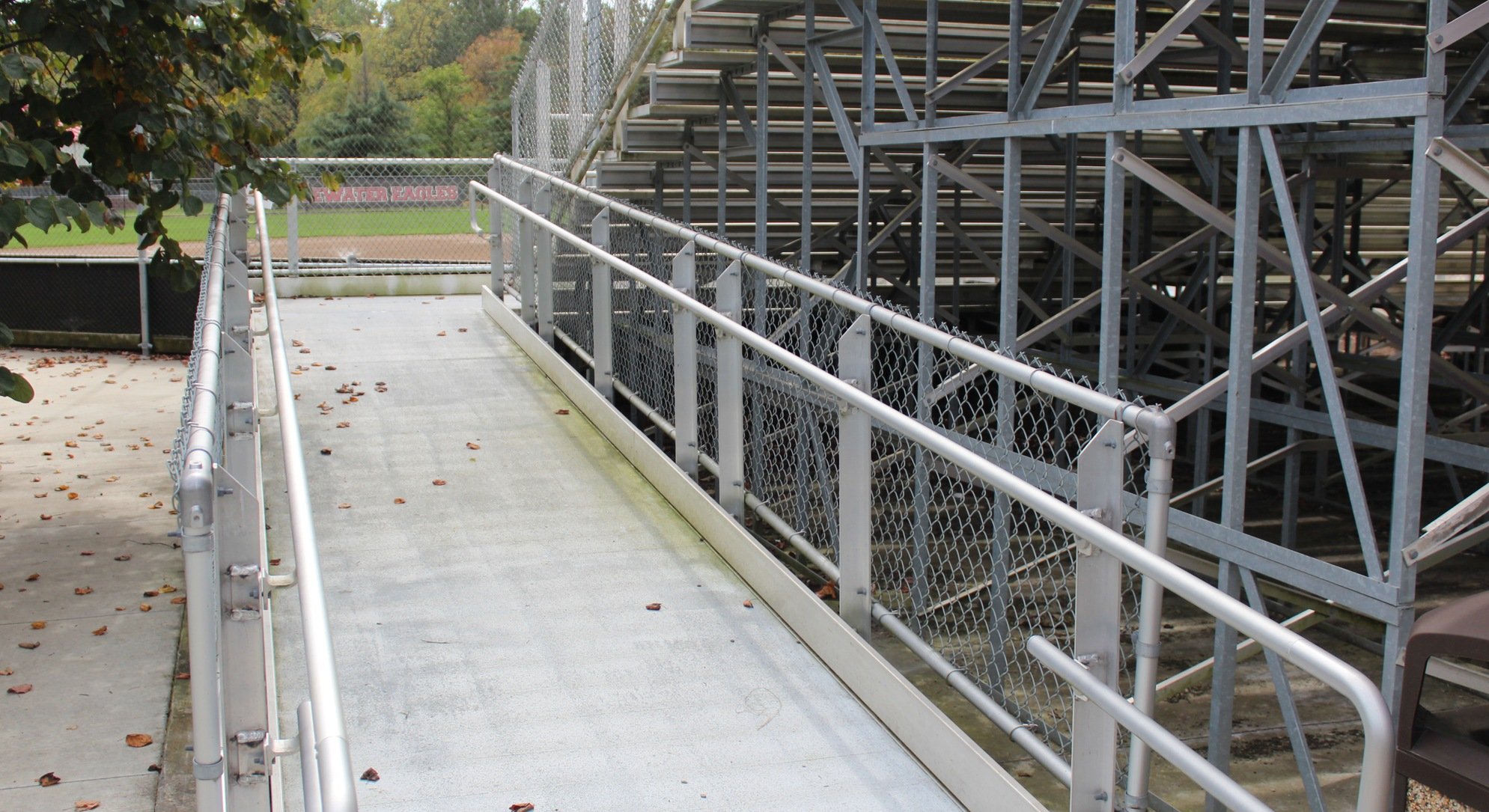 ramp to softball seating