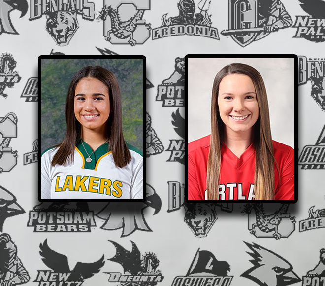 Cortland and Oswego capture weekly awards for softball