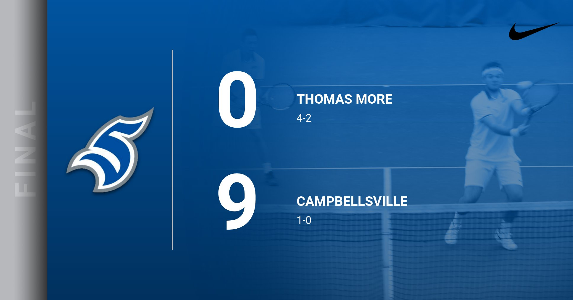 Men's Tennis Drops First Match of Spring Season vs. Campbellsville