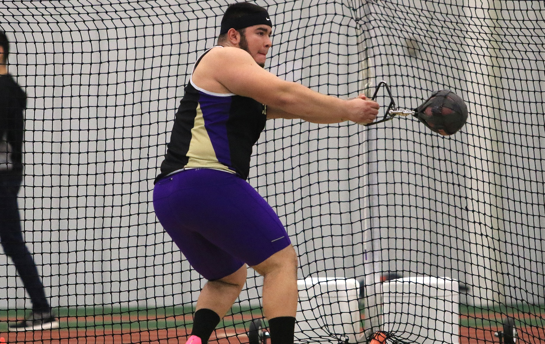 Petro Earns Victory in Weight Throw to Lead Men's Track at SPIRE