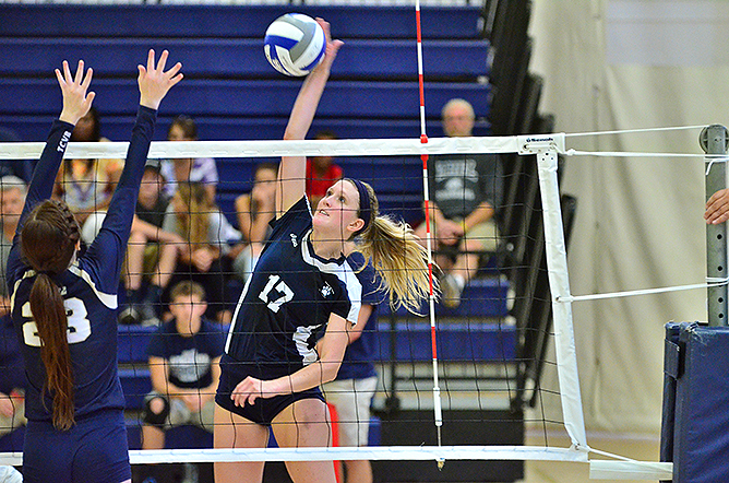 Women's Volleyball Downs St. John Fisher; Scurpa, Snyder Named All-Tournament Team
