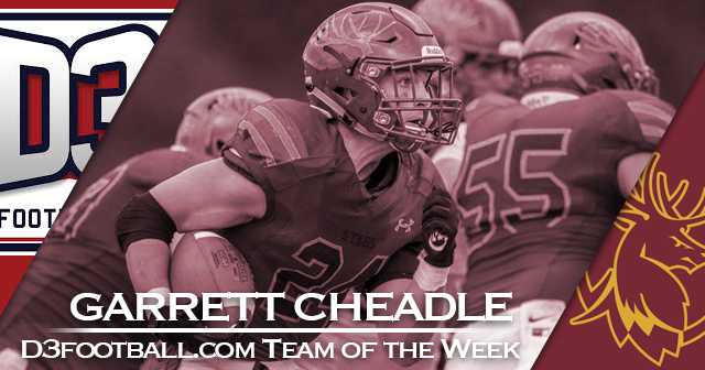 Cheadle of CMS Named to D3football.com Team of the Week