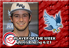 Danny Roth-Roger Williams, Baseball: Player of the Week