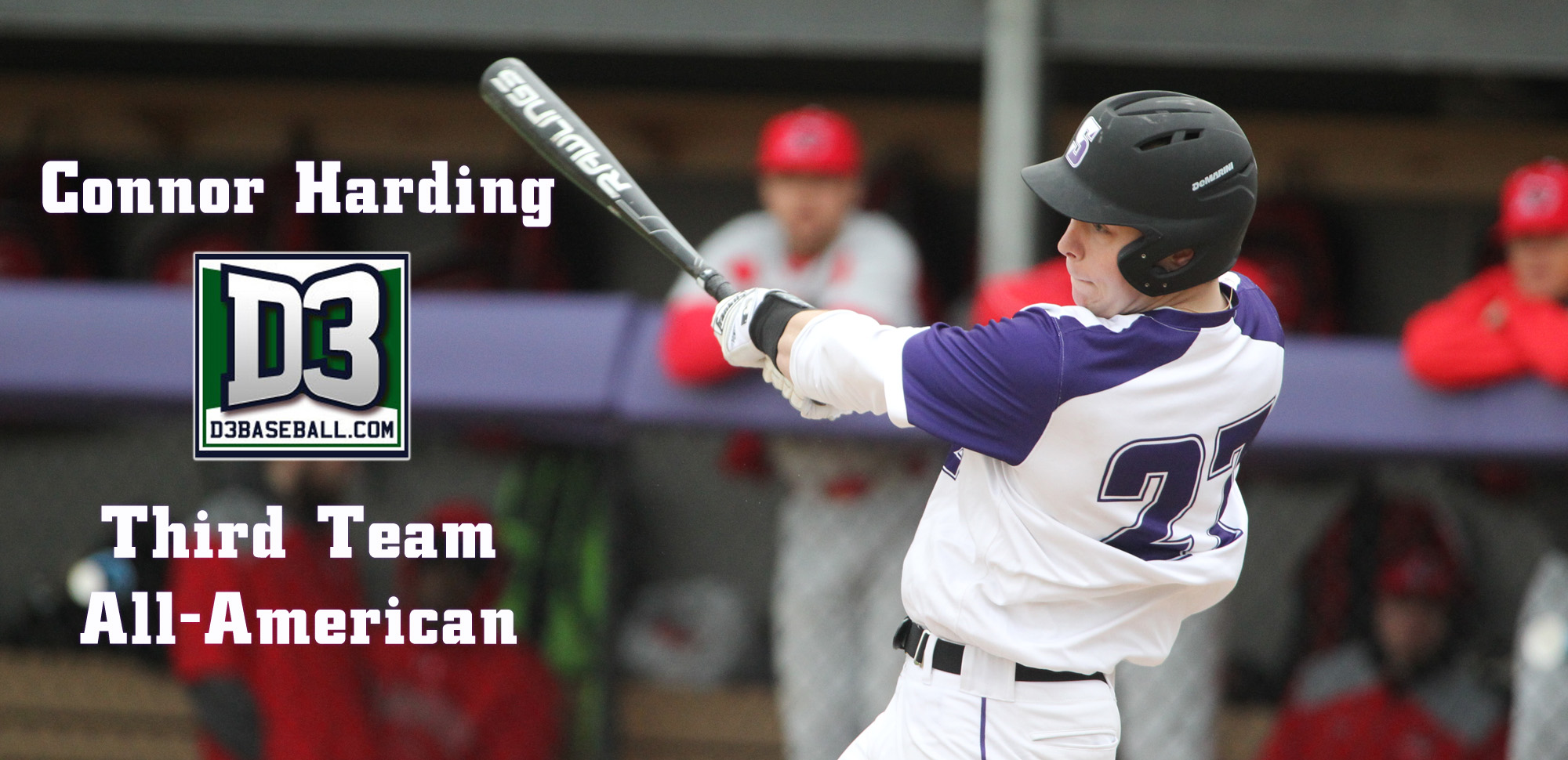 Sophomore Connor Harding became Scranton's first-ever D3baseball.com All-American on Tuesday. © Photo by Timothy R. Dougherty / doubleeaglephotography.com