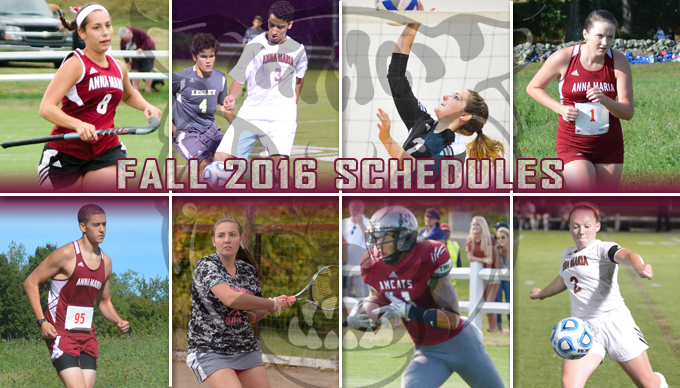 2016 Fall Schedules Announced