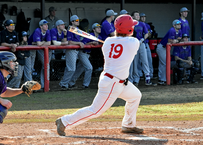 Heath Haskins had a two-run home run in Saturday's loss to 17th-ranked Methodist.