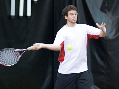 Tyler Marengo was a winner at sixth singles for FSU