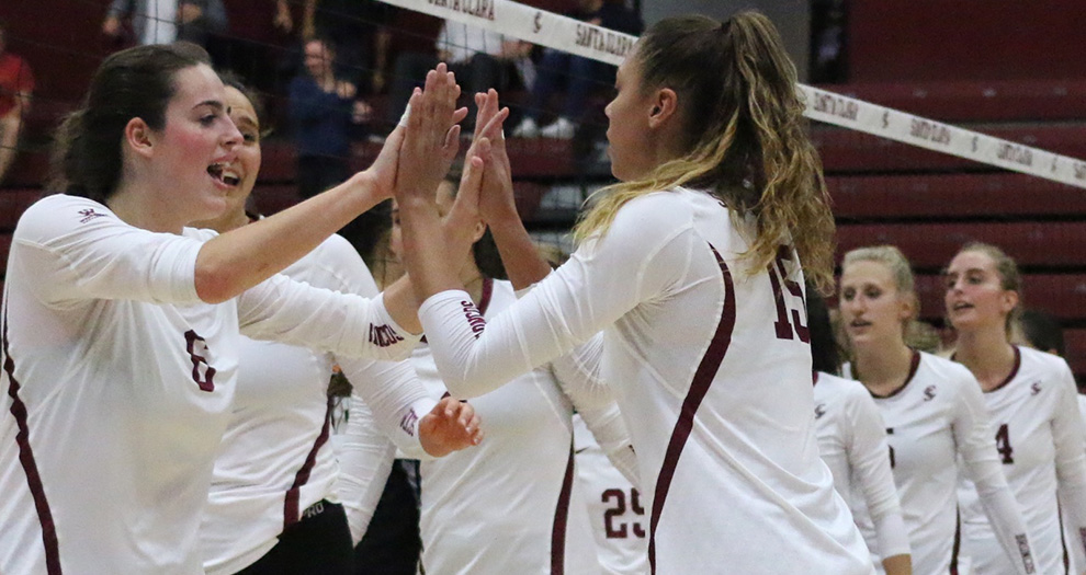 Santa Clara totaled 13 blocks in a four-set victory over Pacific last Thursday, the second-highest block mark in a match this season.