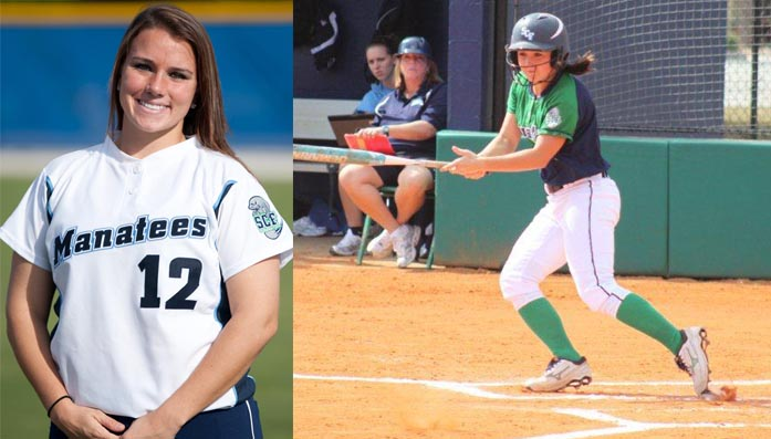 Chelsea Wildey and Kayla Bjorge produce for SCF Softball in sweep of Santa Fe College