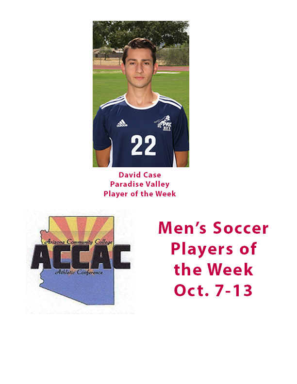 Case, of Paradise Valley, is men's soccer Player of the Week