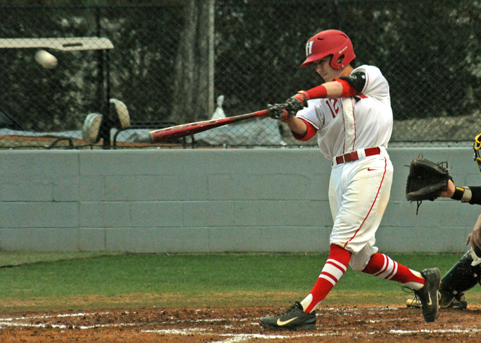 Mason Throneberry was 2-for-4 with three RBIs in Tuesday's 5-3 win over 11th-ranked Rhodes College.