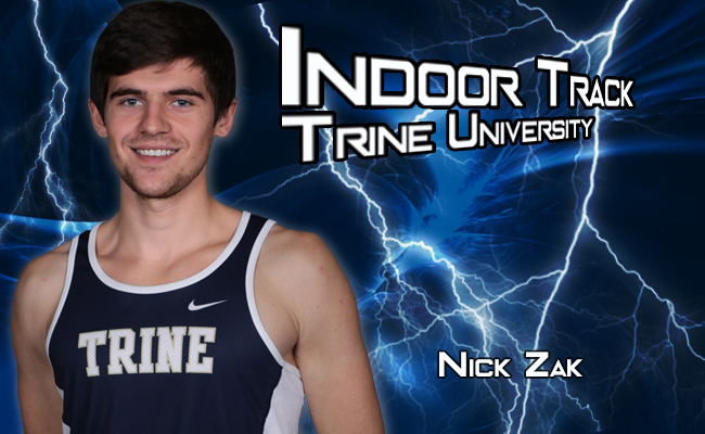 Zak Improves School Record in Mile at GVSU Open