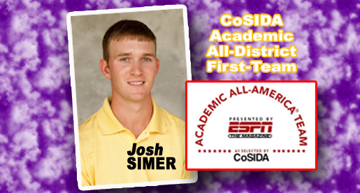 Golfer Josh Simer named first-team Academic All-District