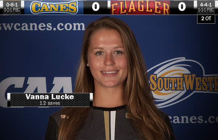 Lucke Shuts Out Flagler