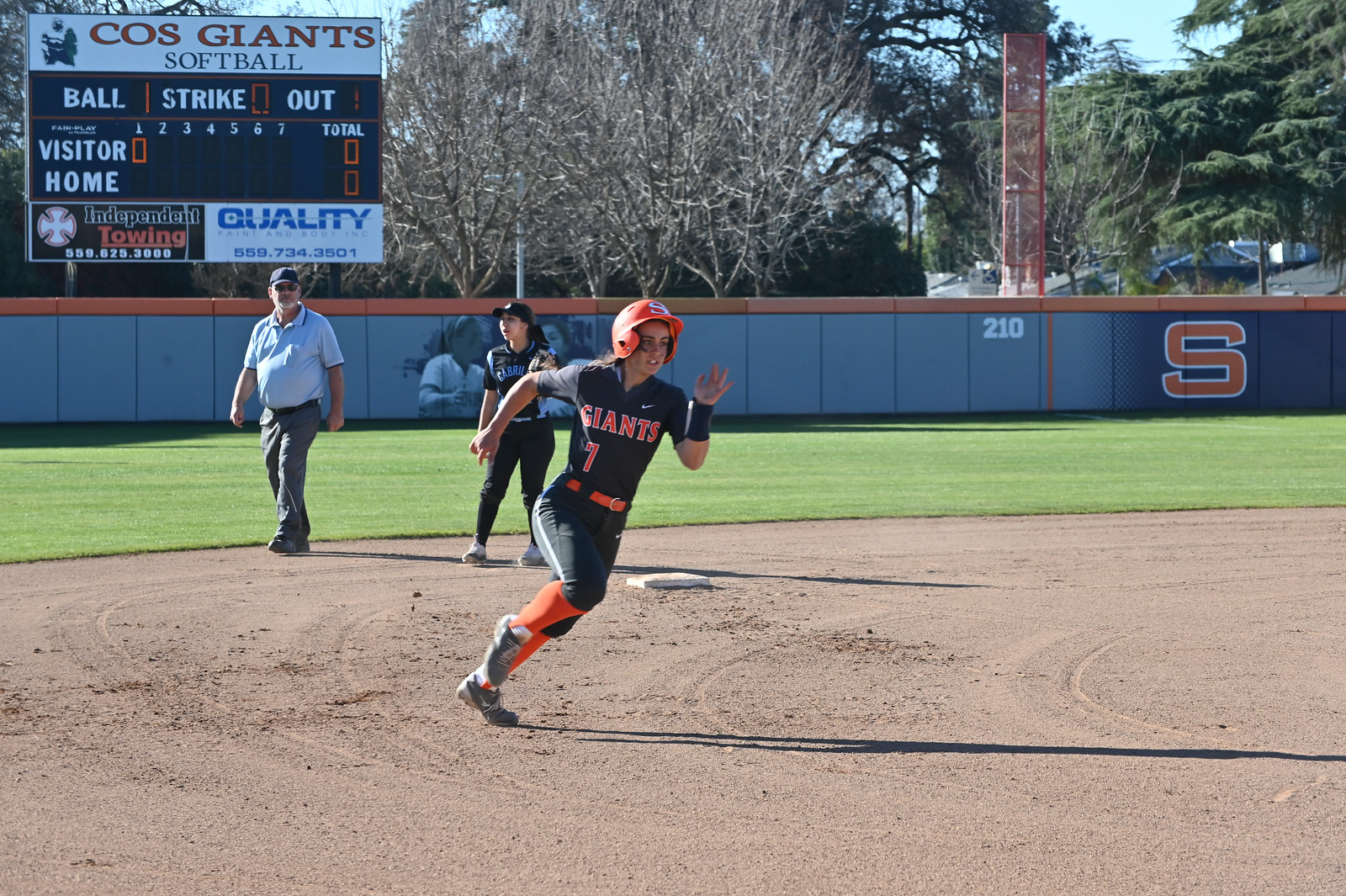 Sunblade rounds the bases in a game against Cabrillo earlier in the year. Photo by Norma Foster.