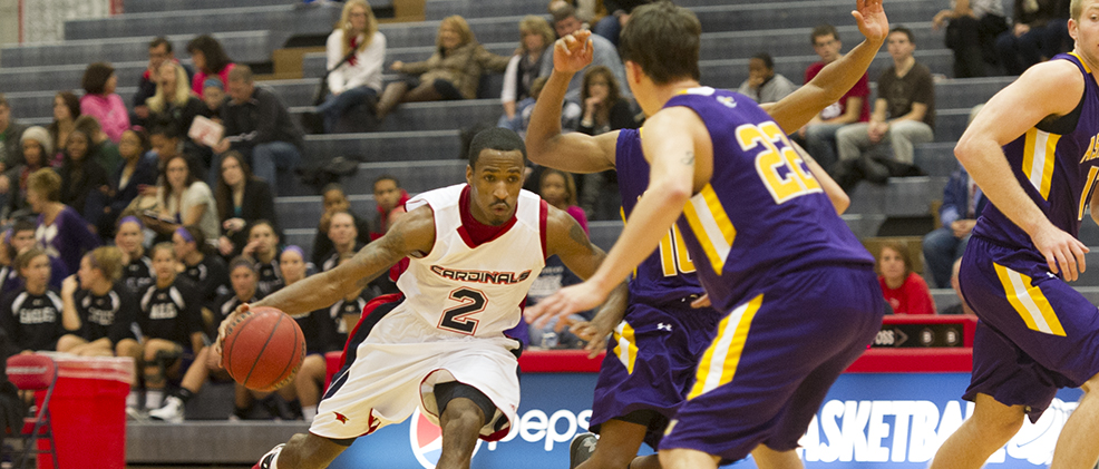 Webb Leads Cardinals in Victory over Eagles, 66-61