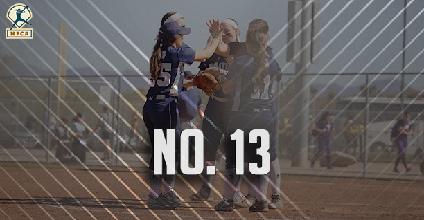 Moravian's softball team is ranked No. 13 in latest NFCA Division III Top 25 Poll.