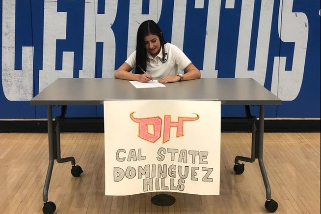 Mayela Medina signs with Cal State Dominguez Hills
