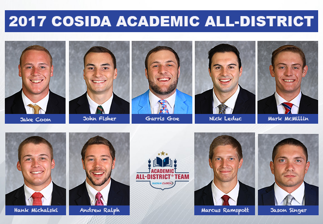 Kennedy named to the CoSIDA Academic All-District I team