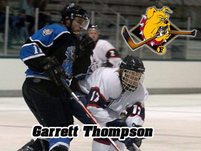 Ferris State's recruit Garrett Thompson nominated for the USA Hockey 2010 Junior Player of the Year.  (Photo courtesy of Traverse City North Stars)