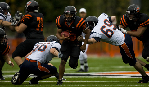 Football Defeats Pomona-Pitzer 63-38 In First Home Game