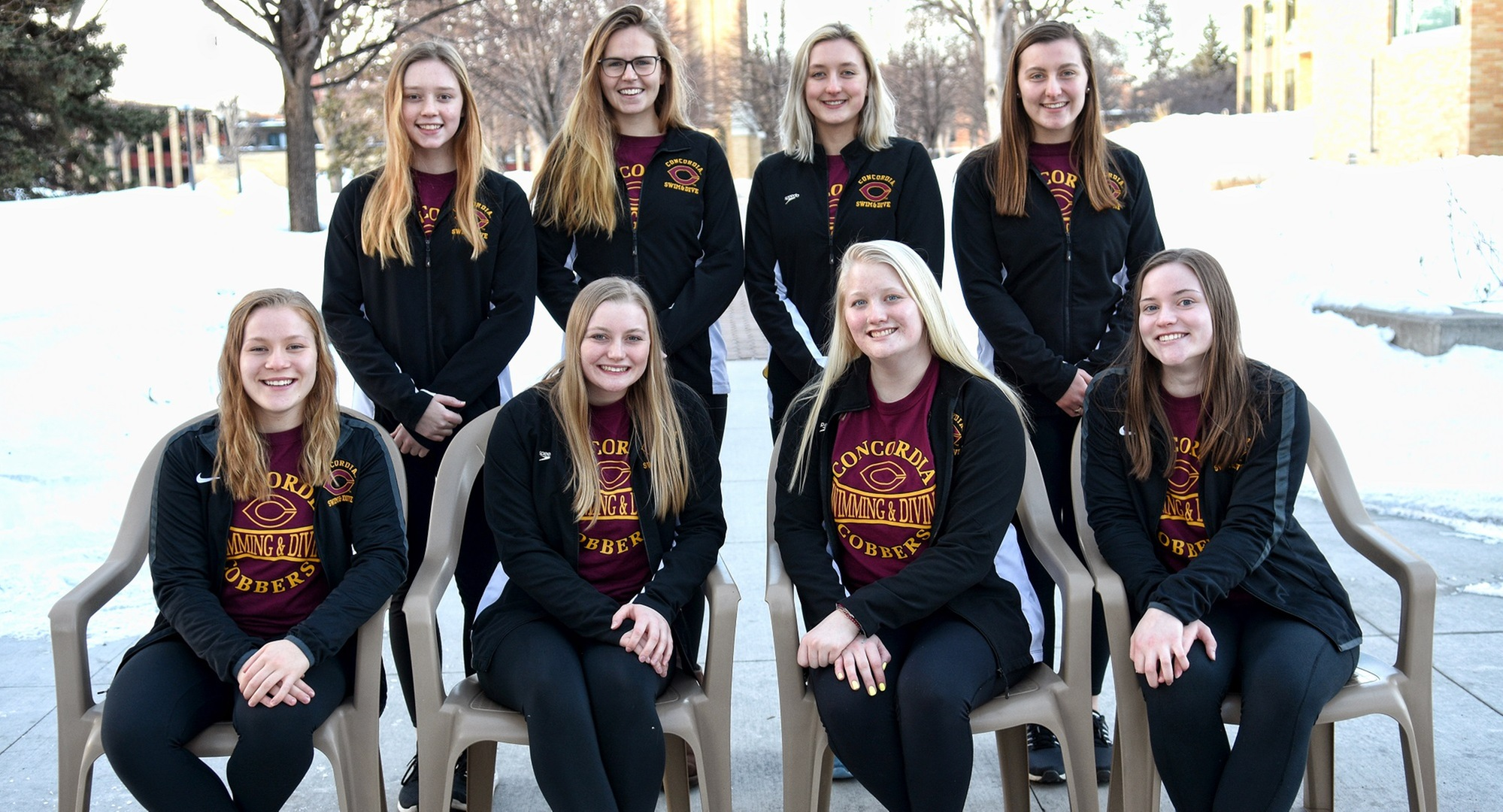 The Cobber swimming and diving team finished 10th at the MIAC Championship Meet.