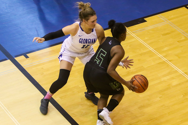 WOMEN'S BASKETBALL RUNS OUT OF STEAM AGAINST LANCERS