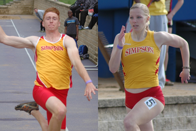 Simpson closes IIAC Track & Field Championships