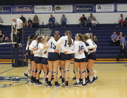 Women's Volleyball Rolls Past Covenant, Hiwassee