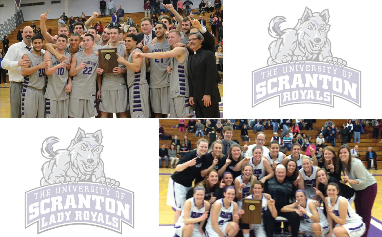 The men's and women's basketball teams both captured Landmark Conference championships on Saturday, March 1, in the Long Center.