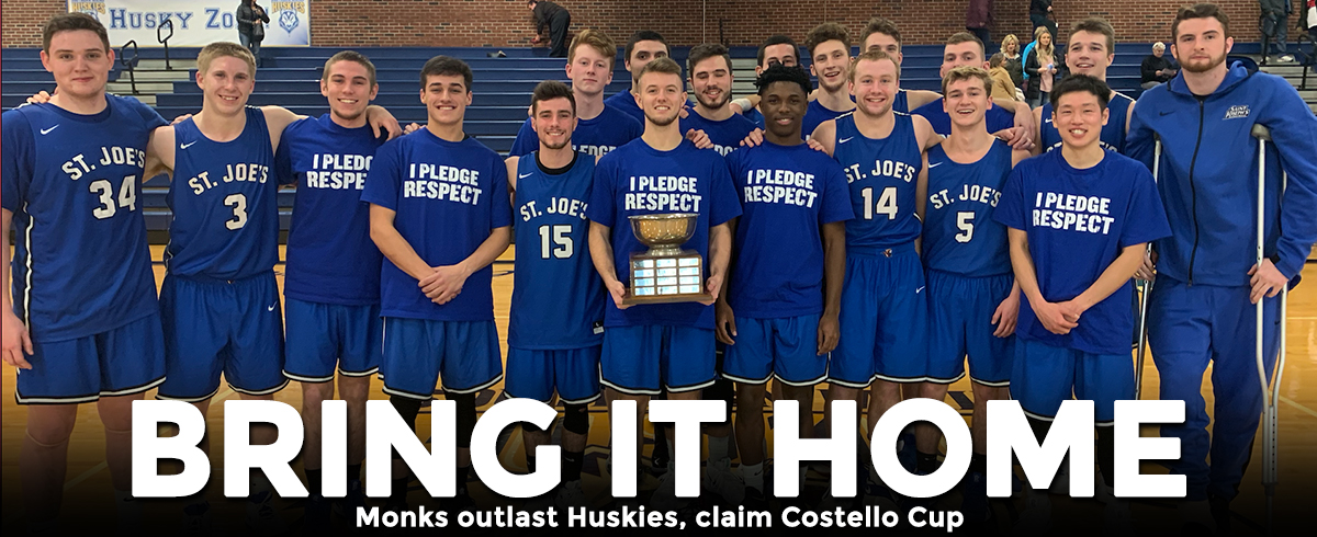 Monks Outlast Huskies, Claim Costello Cup