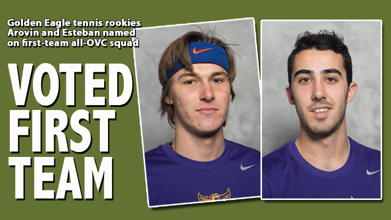 Arovin, Esteban earn first-team all-OVC tennis team honors
