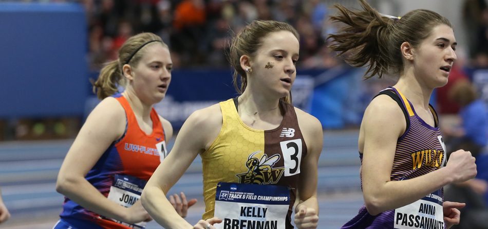 Junior distance runner Kelly Brennan earned the second All-American honor of her career at the 2019 NCAA Indoor Championships (Photo courtesy of D3photography)