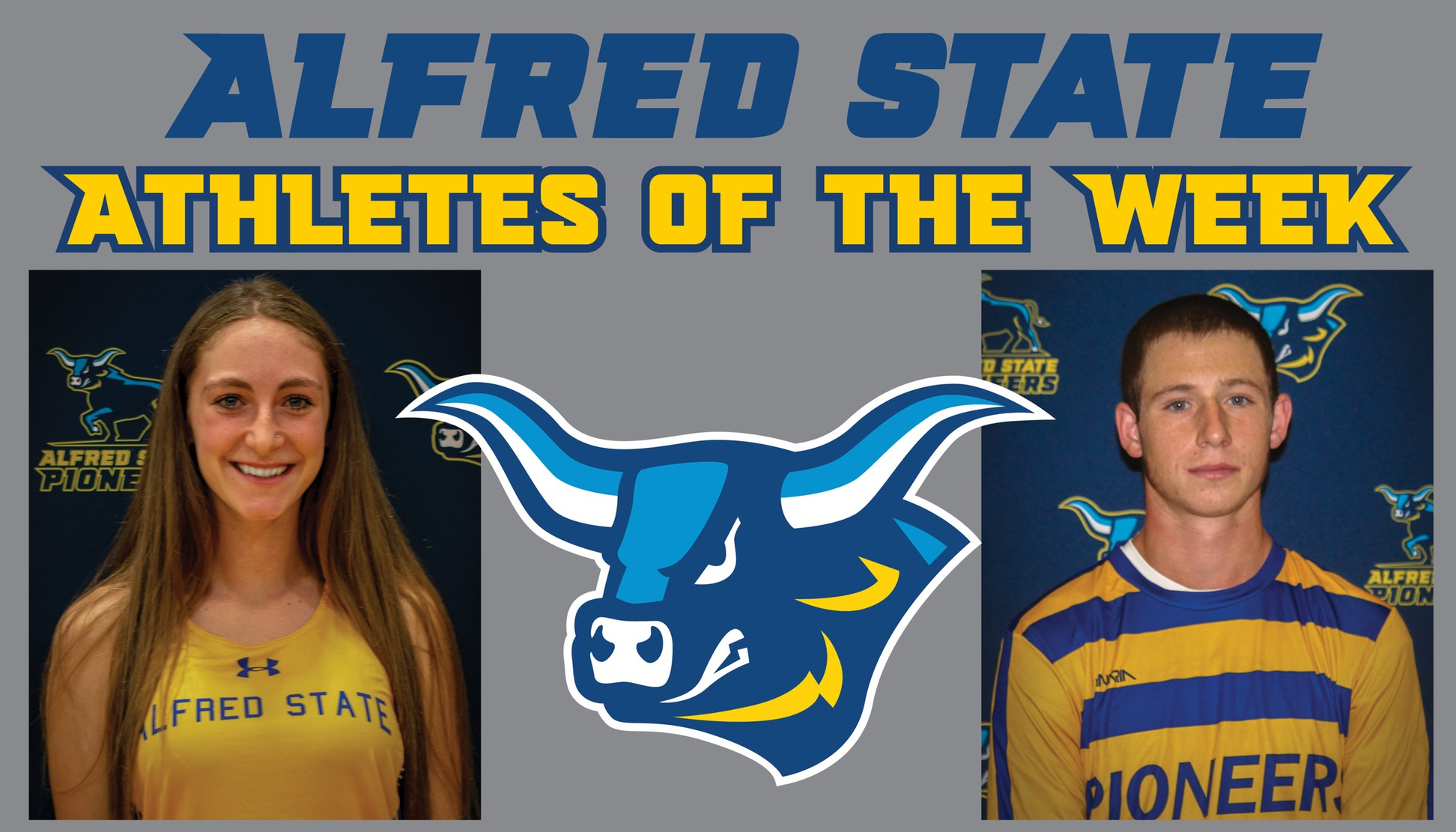 Veronica Dailey and Justus Hoffmann Named Alfred State Athletes of the Week.